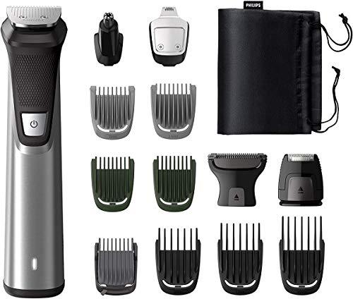 Philips 14-in-1 Multigroom MG7745/15, Barttrimmer, Haarschneider, Körperhaartrimmer, Ohr- und Nasenhaartrimmer, selbstschärfende Metallklingen