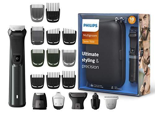 Philips MG7785/20 Multigroom Series 7000 18-in-1 Trimmer,Barttrimmer, Haarschneider, Körperhaartrimmer, Ohr- und Nasenhaartrimmer, selbstschärfende Metallklingen