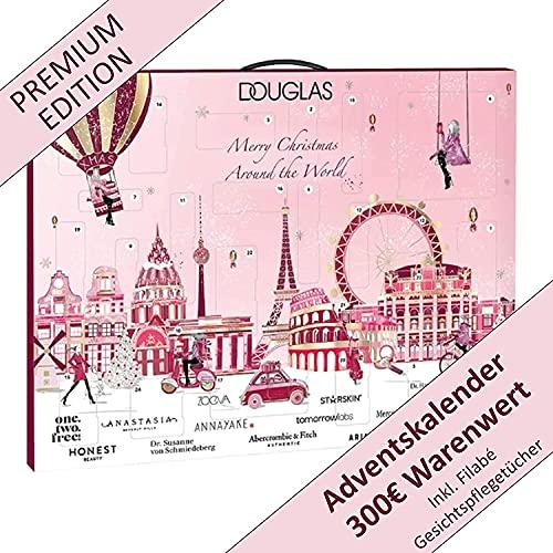 DOUGLAS Adventskalender 2021 Beauty -EXKLUSIV EDITION- Frauen + Mädchen Kosmetik Advent Kalender, Wert 300 €, Pflege Frau, Adventkalender Damen